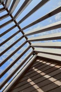 détail du toit de l'extension