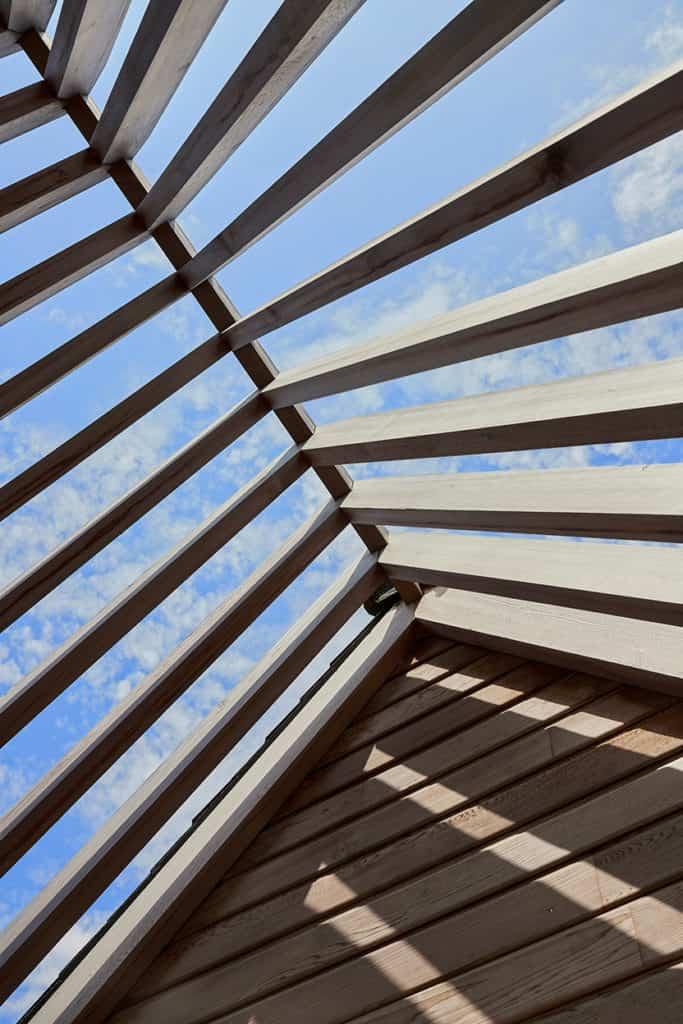 détail du toit de l'extension à Rennes