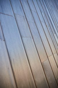 détail du bardage de la maison bois