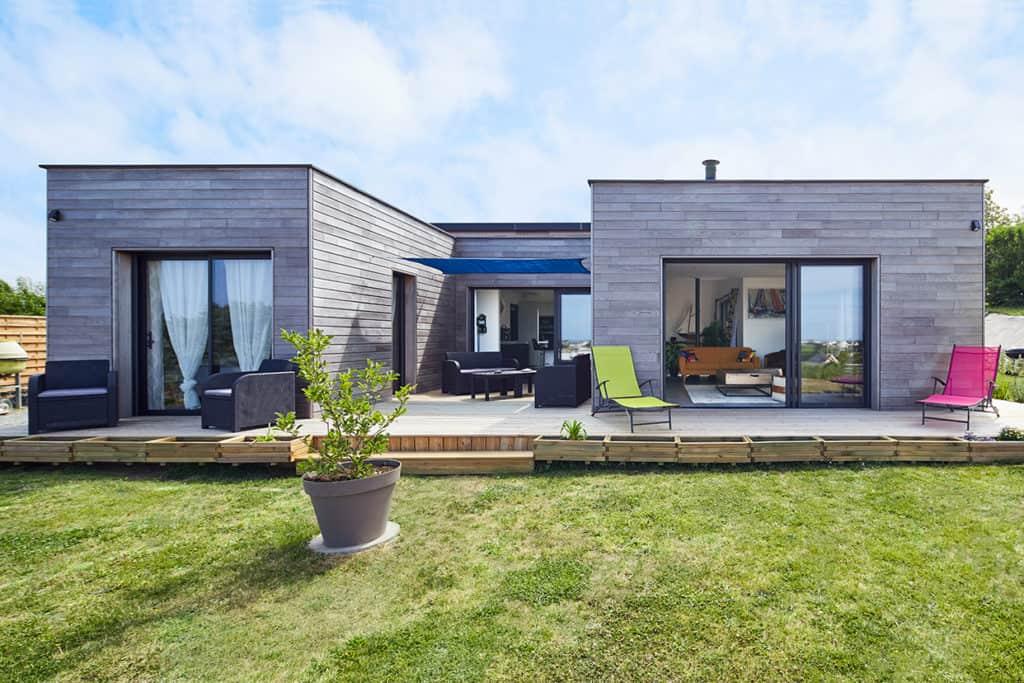 terrasse et jardin de la maison