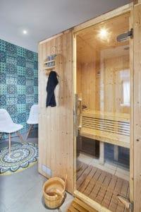 sauna de la chambre parentale