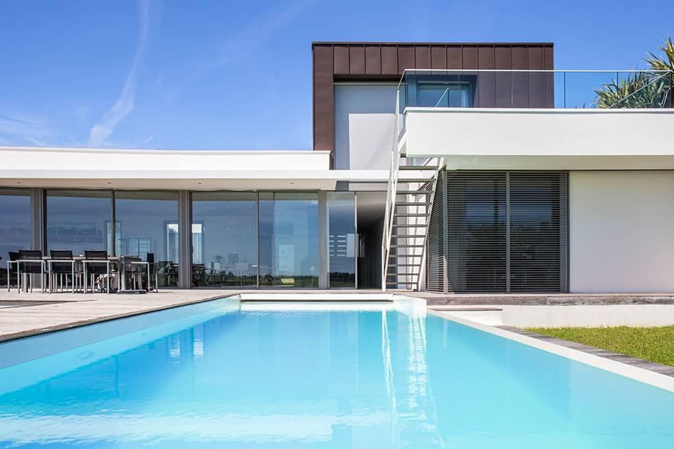 piscine maison d'architecte