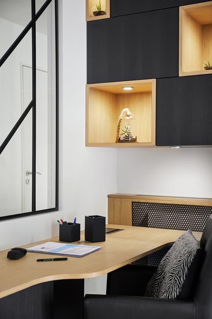 espace bureau avec verrière