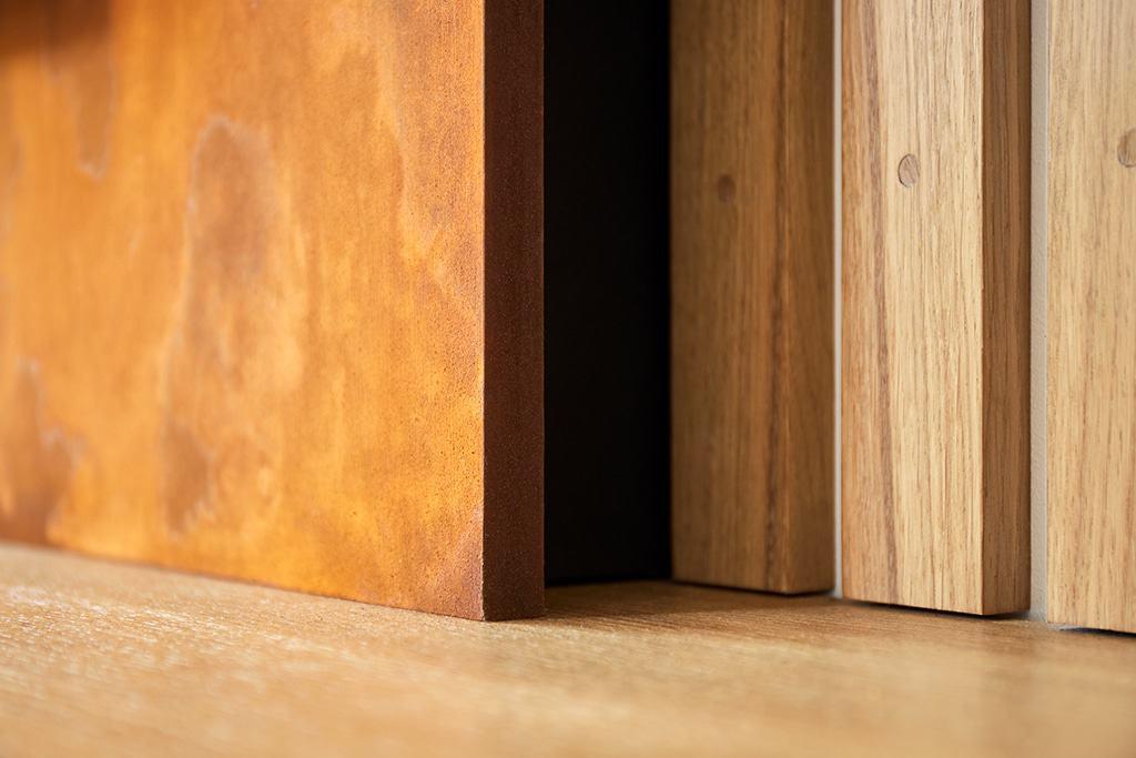 détail des matières utilisées dans le meubles TV