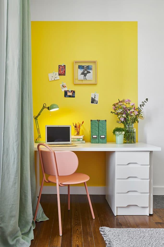 bureau pour ados décoration colorée
