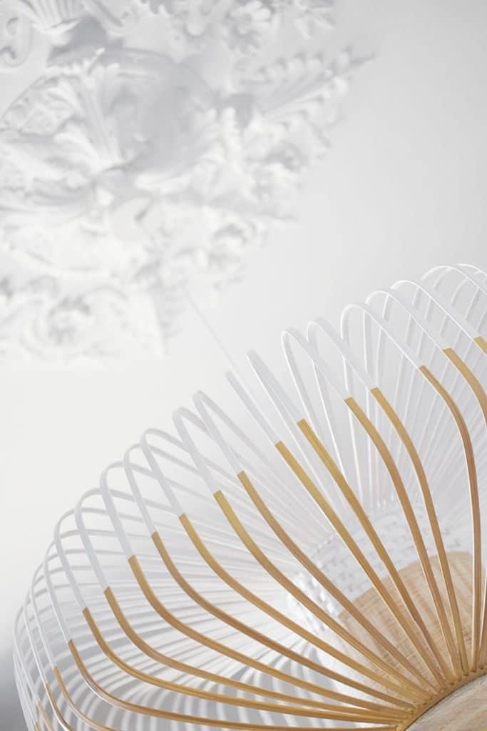 suspension lumineuse en bambou