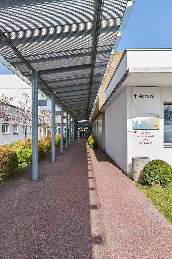Galerie couverte de l'hôpital de chateaubriant