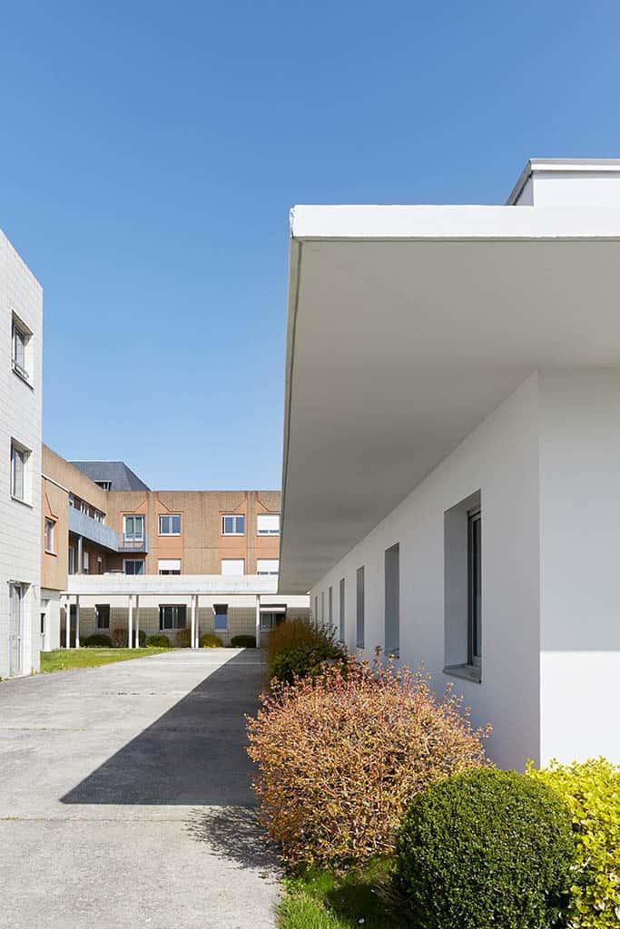 détail de l'architecture de l'hôpital de chateaubriant