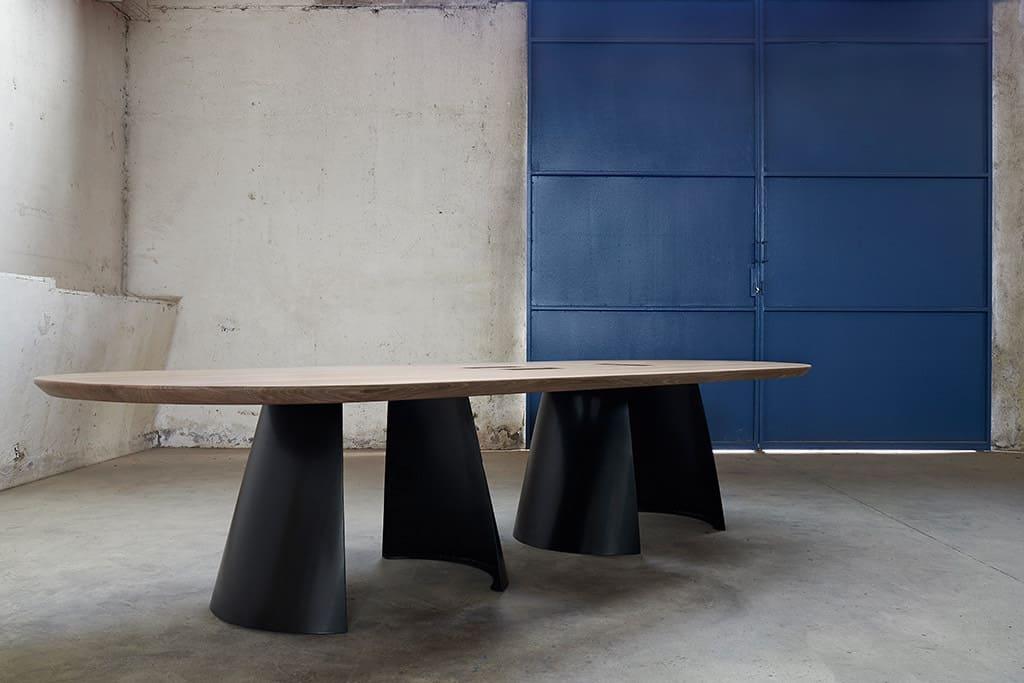 table design bois et métal