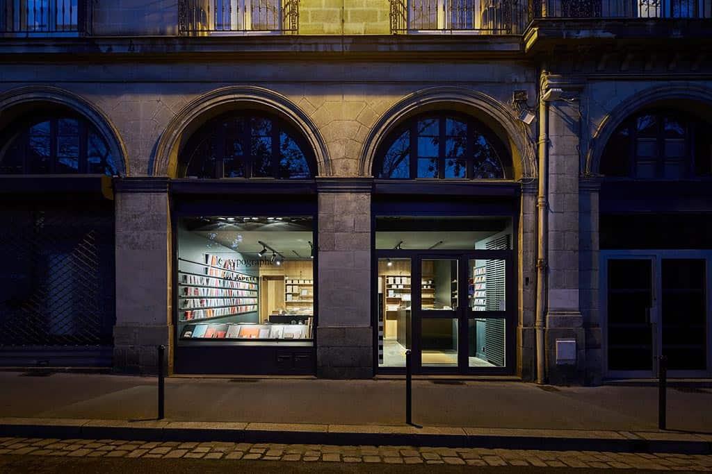 Devanture de la boutique du Typographe à Nantes