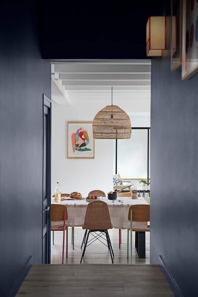 couloir donnant sur la salle à manger