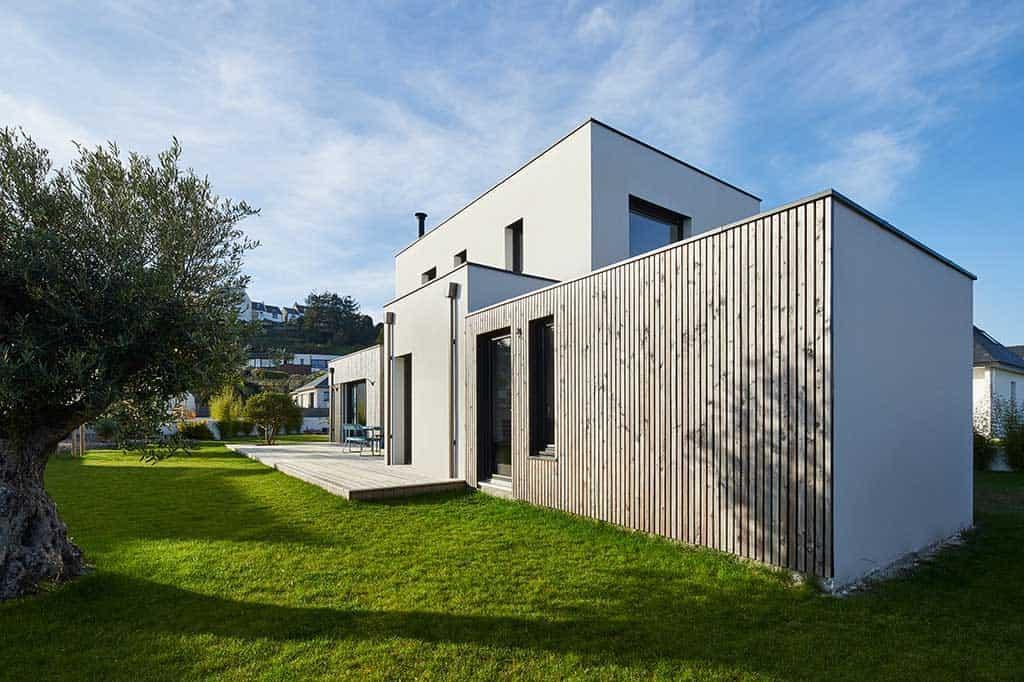 bardage bois contemporain pour maison